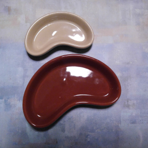 Kidney shaped ceramic dishes