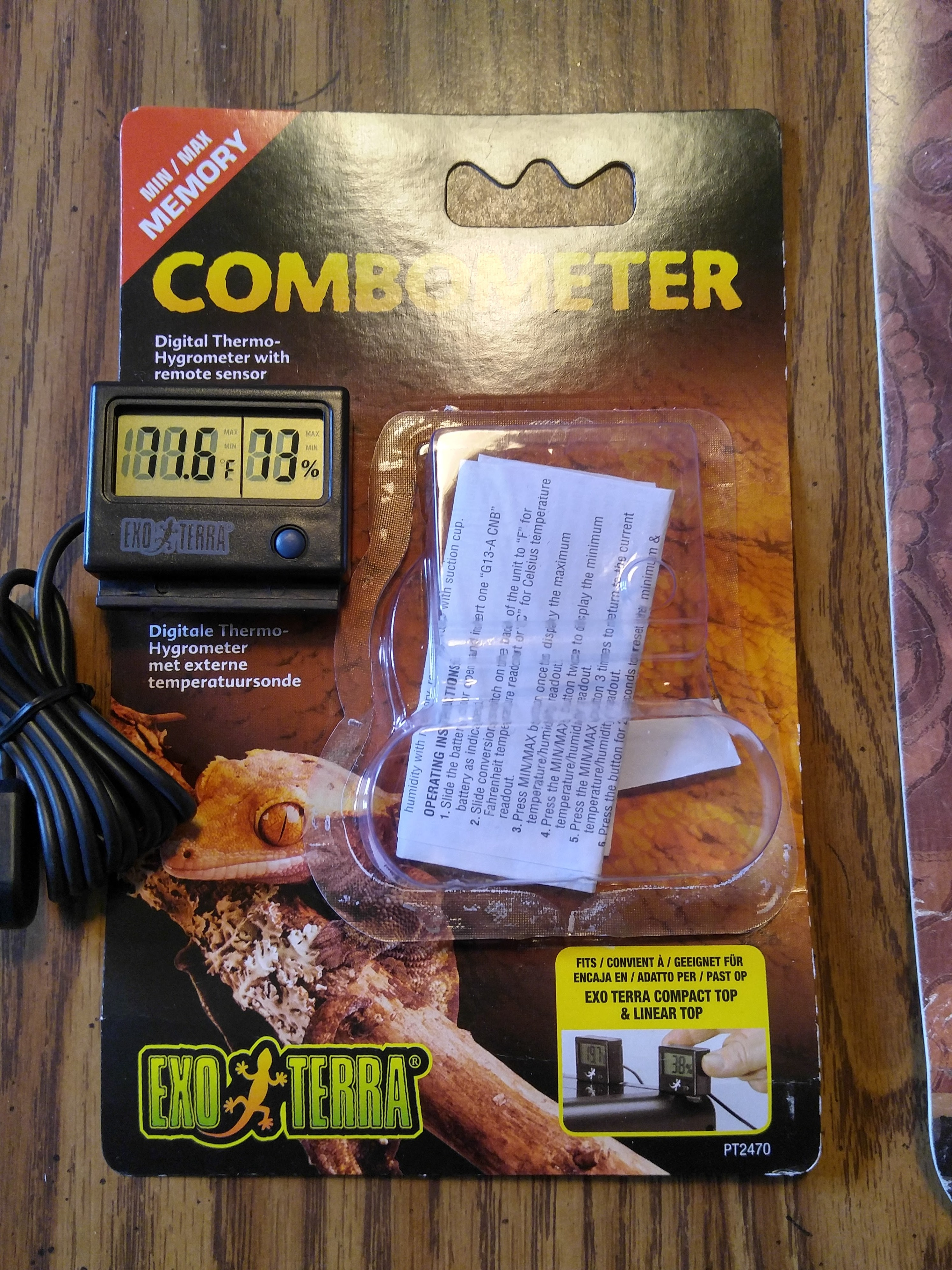 EXO TERRA Thermometer/ Hygrometer Combo